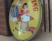 JUST FOR FUN:  Set of 3 Sewing Tins - Empty - (Vintage Style) - Great for storing sewing pins, buttons, thimbles, trinkets, charms, etc.