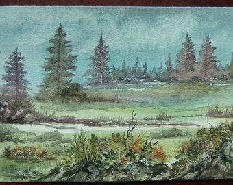watercolour landscape painting art original (ref 403)