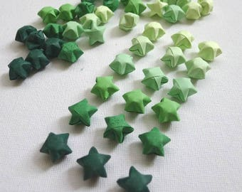 100 Dewy Green Gradient Origami Lucky Stars