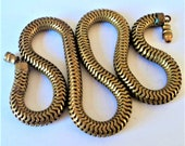 Antique Rubbed-Gold Snake Chain... c.1900s For Repurpose