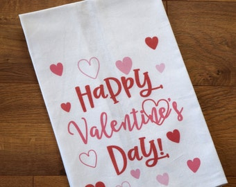 Valentine's Day Kitchen Towel, Valentines Gifts, Valentine's Decorations, Kitchen Decor, Holiday Decor