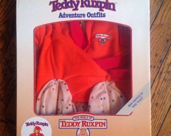 Vintage 1985 Teddy Ruxpin Sleeping Outfit in Box Adventure Outfits