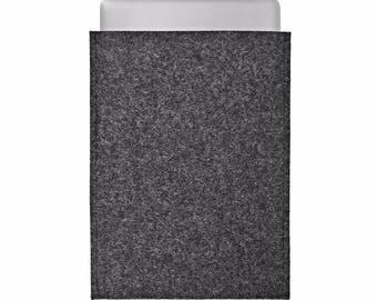 MacBook Pro 2017 case MacBook Pro 13 inch case MacBook Pro 2017 15inch case MacBook Pro Touch Bar case charcoal wool felt portrait design