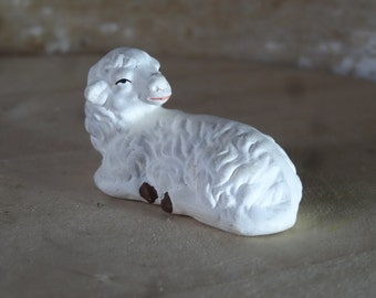 Vintage Sheep Chalk-ware Nativity Replacement or Your Private Collection