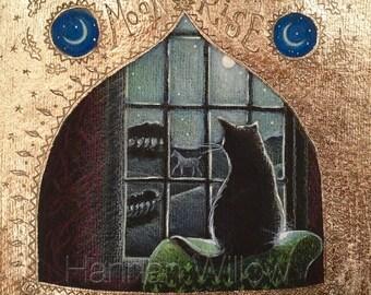 Moon Rise greetings card