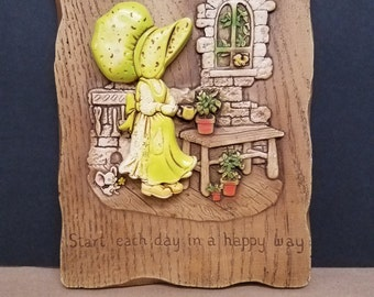 Vintage Holly Hobbie Type Picture