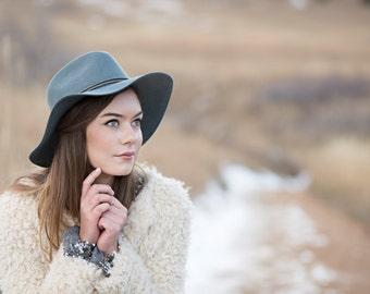 The Phoebe, Bluestone: classic women's hat for the adventurous beauty