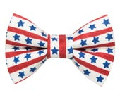 """Cat Bow Tie - """"The Star Spangled Kitty"""" -  Patriotic Stars + Stripes LIMITED"""