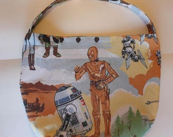 Star Wars Purse or Bag - Return of the Jedi Darth Vader Droids - Shoulder Bag Style - Upcycled from vintage fabric