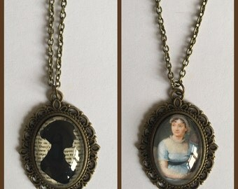 Jane Austen Inspired Cameo Necklace