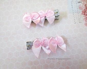 Pink Bow Baby Hair Clip Set, Baby Girl Hair Clip, Toddler Hair Clip, Girl Hair Clip,Baby No Slip Hair Clip,Infant Hair Clip