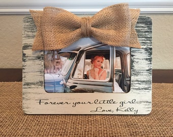 Forever your little girl gift for father of the bride mother of the bride parents of the bride picture frame personalized wedding gift