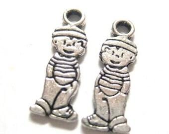 75% Off - 20pcs Little Boy Antique Silver Charms 126