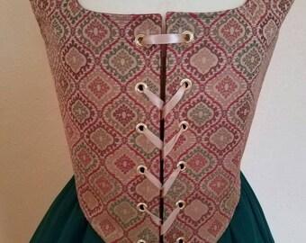 Reversible Renaissance  Bodice and Cotton Skirt