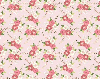 Riley Blake Wonderland Fabric Pink Floral Fabric Pink Quilting Fabric Pink Quilt Fabric - By The 1/2 Yard