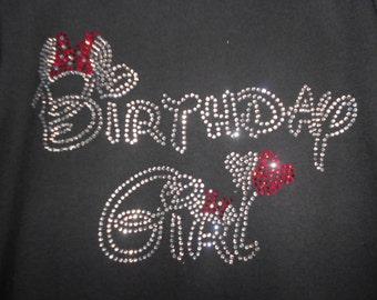 Birthday Girl Rhinestone Transfer