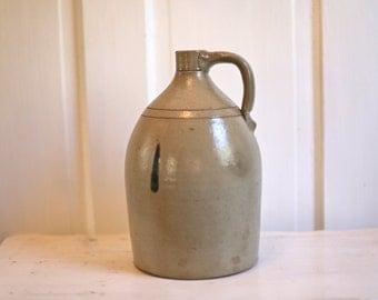 Whisky jug old pottery