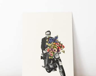 Original Artwork, Unique Motorcycle Collage, One of a Kind - Pimp My Ride