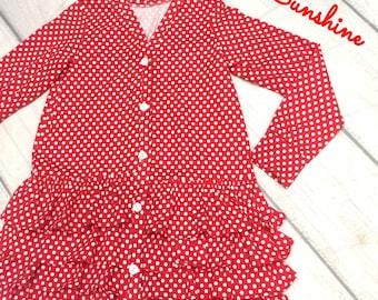 Cotton Jersey Ruffled Cardigan