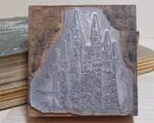 Midieval Castle Wood Block Industrial Stamp