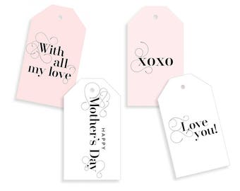 Mother's Day Gift Tags Printable, Digital Download