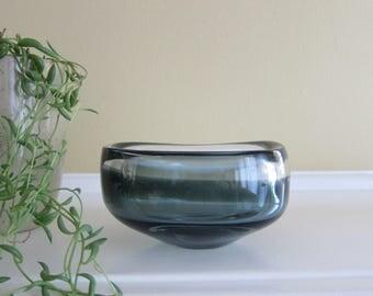 Holmegaard Smoky Glass Bowl designed by Per Lutken