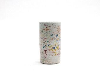 Ceramic Splatter Bud Vase