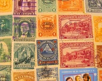 Mas Pupusas Por Favor 50 Premium Vintage El Salvadorian Postage Stamps Republic of El Salvador Central America Latina Worldwide Philately