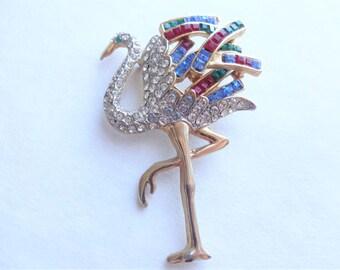 Faux Cartier Flamingo Pin Unsigned Copy Duchess of Windsor