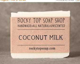 Coconut Milk Soap -  All Natural Soap, Handmade Soap, Cold Process Soap, Vegan Soap