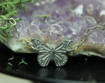 Butterfly Bracelet Fine silver Monarch jewelry