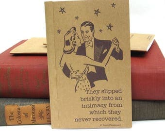 F. Scott Fitzgerald Notebook / Journal / Sketchpad Favors for Engagement Party, Hen Party, Bridal Shower, and Wedding