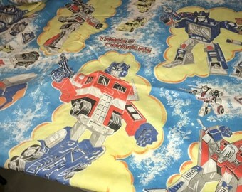 vintage 1983 Hasbro industries Transformers twin flat sheet