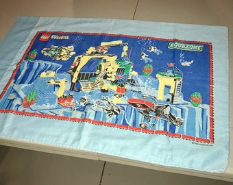 1970's Lego group aqua zone and launch command pillow case with