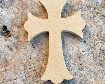 Small Wooden Cross for Frame, Wreath, Decoration, Craft