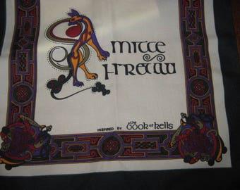 Celtic inspired vintage scarf