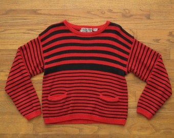 vintage womens striped sweater
