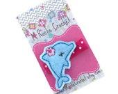 Dolphin hair clip, dolphin felt clip, dolphin, baby hair clip, toddler hair clip, hair accessories, hair clippies, baby barrettes