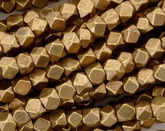 Brass-3.3mm Cornerless Cube Bead-Bronze-24 Inch Strand