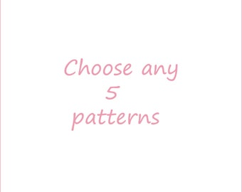 Choose any 5 embroidery patterns