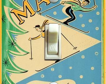 SKI MAINE Vintage Ski Poster Light Switch Plate (single)  ***FREE Shipping***