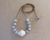 Bicone Bead Necklace with...
