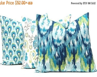 15% Off Sale Throw Pillow Covers - Turquoise Pillow Covers - Decorative Pillow Covers - Burlap Pillow Covers - Sofa Pillows - Frost Birch Pi