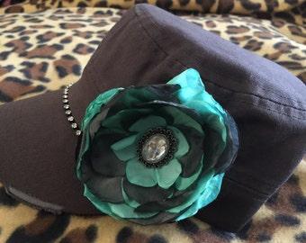 Cadet caps-bling caps-flower caps-women's hats-trucker & baseball caps-rhinestone caps-bling cadet cap-cadet hat