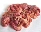 Evangeline Silk Bamboo Lace Yarn. Roses Before Winter.
