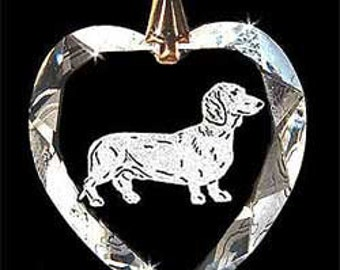 Dachshund miniature Jewelry  Custom Crystal Necklace Pendant, Suncatcher made with any Animal or Name YOU Want, Gift , Dog Lover, Handler