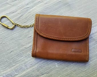 Vintage Coach Brown Leather Wallet Change Purse ID Wallet