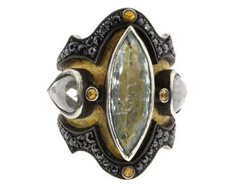 Aquamarine Medieval ring