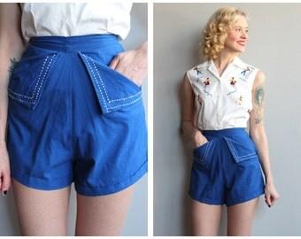 1940s Shorts // Summer Pin-Up Shorts // vintage cotton shorts