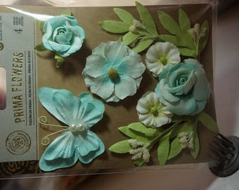 CLEARANCE* 35% off ~ Prima Flowers ~ Esperanza ~ Filaire ~ Butterfly and Flowers *Cards*Scrapbooking*Crafts*